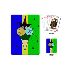 Ice Cream Cat Playing Cards (mini)  by Valentinaart