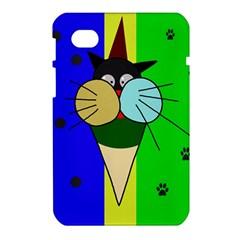 Ice cream cat Samsung Galaxy Tab 7  P1000 Hardshell Case  by Valentinaart