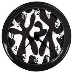 Black And White Dance Wall Clocks (black) by Valentinaart