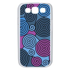 Blue hypnoses Samsung Galaxy S III Case (White)