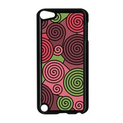 Red And Green Hypnoses Apple Ipod Touch 5 Case (black) by Valentinaart