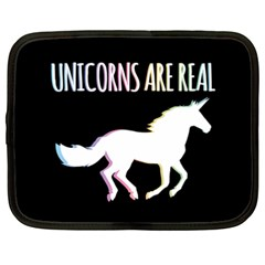 Unicorns Are Real Netbook Case (xxl)  by TanyaDraws