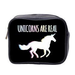 Unicorns Are Real Mini Toiletries Bag 2 Side by TanyaDraws