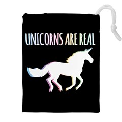 Unicorns Are Real Drawstring Pouches (xxl) by TanyaDraws