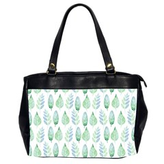 Green Watercolour Leaves Pattern Office Handbags (2 Sides)  by TanyaDraws