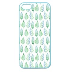 Green Watercolour Leaves Pattern Apple Seamless Iphone 5 Case (color) by TanyaDraws