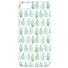 Green Watercolour Leaves Pattern Apple Iphone 5 Classic Hardshell Case by TanyaDraws