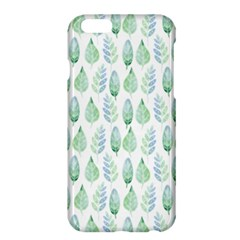 Green Watercolour Leaves Pattern Apple Iphone 6 Plus/6s Plus Hardshell Case by TanyaDraws