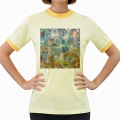 Spirals Women s Fitted Ringer T-Shirts by Cveti