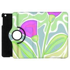 Purple Flowers Apple Ipad Mini Flip 360 Case by Valentinaart