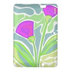 Purple Flowers Kindle Fire Hdx 8 9  Hardshell Case by Valentinaart