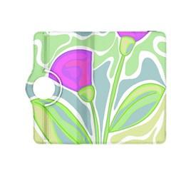 Purple Flowers Kindle Fire Hdx 8 9  Flip 360 Case by Valentinaart