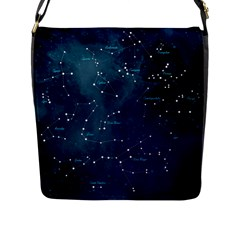 Constellations Flap Closure Messenger Bag (l) by DanaeStudio