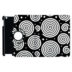 Black And White Hypnoses Apple Ipad 3/4 Flip 360 Case by Valentinaart