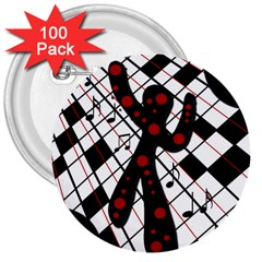 On The Dance Floor  3  Buttons (100 Pack)  by Valentinaart