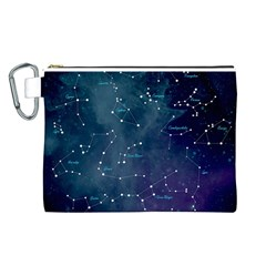 Constellations Canvas Cosmetic Bag (large) by DanaeStudio