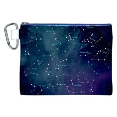 Constellations Canvas Cosmetic Bag (xxl) by DanaeStudio
