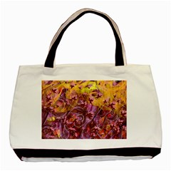 Falling Autumn Leaves Basic Tote Bag (two Sides) by Cveti