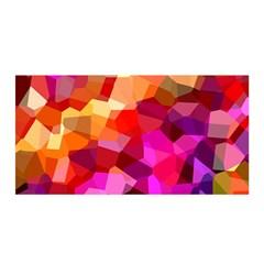 Geometric Fall Pattern Satin Wrap by DanaeStudio