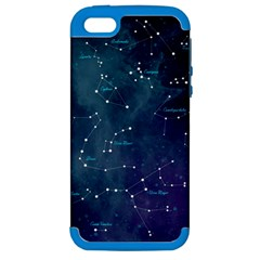 Constellations Apple Iphone 5 Hardshell Case (pc+silicone) by DanaeStudio
