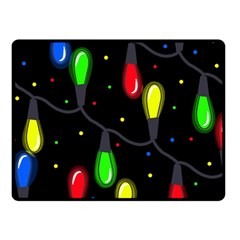 Christmas light Double Sided Fleece Blanket (Small)  by Valentinaart