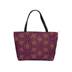 Fuchsia Abstract Shell Pattern Shoulder Handbags by TanyaDraws