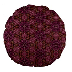Fuchsia Abstract Shell Pattern Large 18  Premium Flano Round Cushions by TanyaDraws