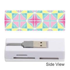 Pastel Block Tiles Pattern Memory Card Reader (stick)