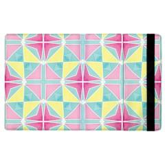 Pastel Block Tiles Pattern Apple Ipad 2 Flip Case by TanyaDraws