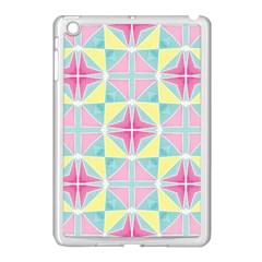 Pastel Block Tiles Pattern Apple Ipad Mini Case (white) by TanyaDraws