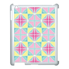 Pastel Block Tiles Pattern Apple Ipad 3/4 Case (white) by TanyaDraws