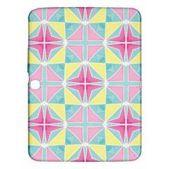 Pastel Block Tiles Pattern Samsung Galaxy Tab 3 (10 1 ) P5200 Hardshell Case  by TanyaDraws