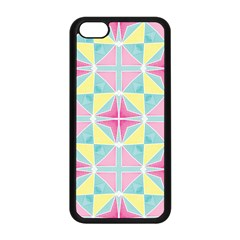 Pastel Block Tiles Pattern Apple Iphone 5c Seamless Case (black) by TanyaDraws