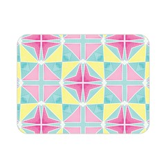 Pastel Block Tiles Pattern Double Sided Flano Blanket (mini)  by TanyaDraws