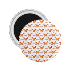Fox and Laurel Pattern 2.25  Magnets by TanyaDraws