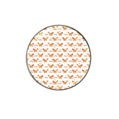 Fox And Laurel Pattern Hat Clip Ball Marker (10 Pack) by TanyaDraws