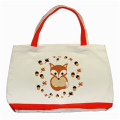 Fox In Autumn Classic Tote Bag (red) by vanessagf