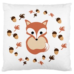 Fox In Autumn Large Cushion Case (one Side) by vanessagf