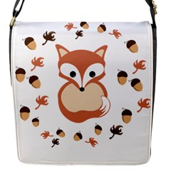 Fox In Autumn Flap Messenger Bag (s) by vanessagf