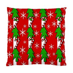Christmas Tree Pattern   Red Standard Cushion Case (one Side) by Valentinaart