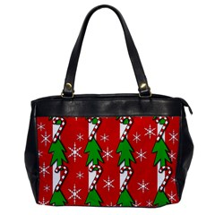 Christmas Tree Pattern   Red Office Handbags by Valentinaart
