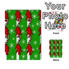 Christmas Pattern   Green Multi Purpose Cards (rectangle)  by Valentinaart