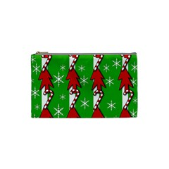 Christmas Pattern   Green Cosmetic Bag (small)  by Valentinaart