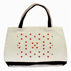Cute Hearts Motif Pattern Basic Tote Bag (two Sides) by dflcprints