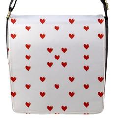 Cute Hearts Motif Pattern Flap Messenger Bag (s) by dflcprints