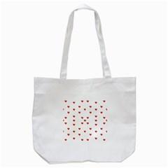 Cute Hearts Motif Pattern Tote Bag (white) by dflcprints
