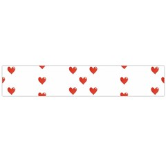 Cute Hearts Motif Pattern Flano Scarf (large)  by dflcprints