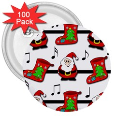 Christmas Song 3  Buttons (100 Pack)  by Valentinaart
