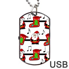 Christmas Song Dog Tag Usb Flash (one Side) by Valentinaart