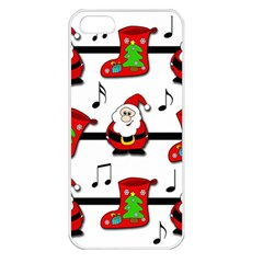 Christmas Song Apple Iphone 5 Seamless Case (white) by Valentinaart